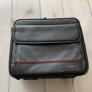 Targus brief case laptop bag black leather